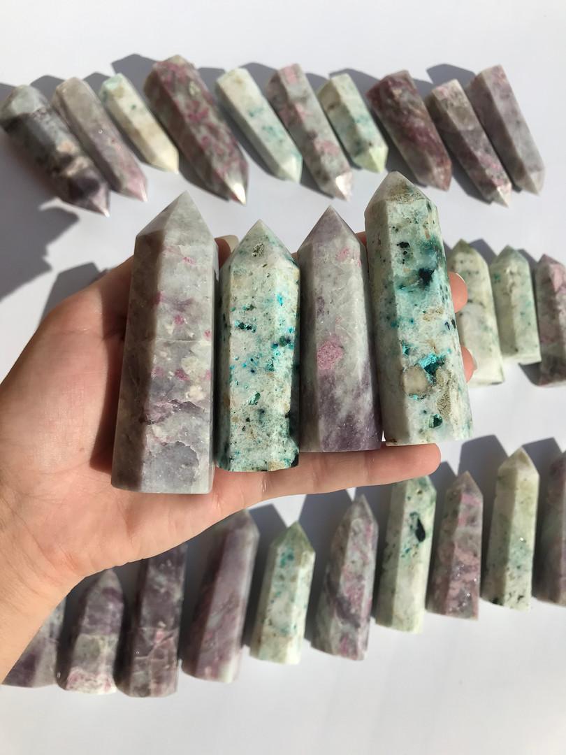 chrysocolla in quatz crystal malachite g