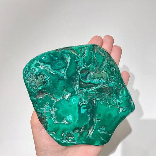 Malachite and Chrysocolla Polished Slab