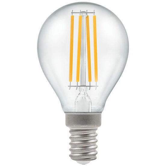 LED Round Filament Clear 6.5W = 60W 2700K SES-E14 12813
