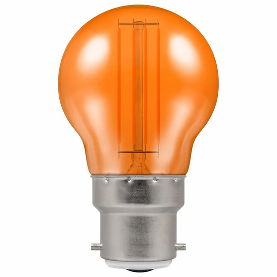 LED Filament Harlequin Round • 4.5W • Orange • BC-B22d 13858