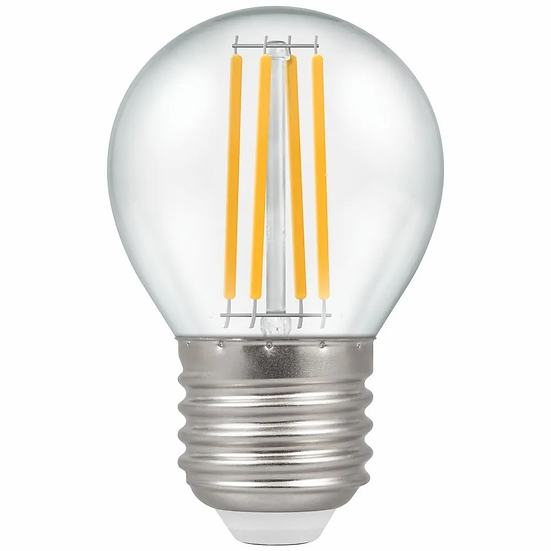 LED Round Filament Clear 6.5W = 60W 2700K ES-E27 12806