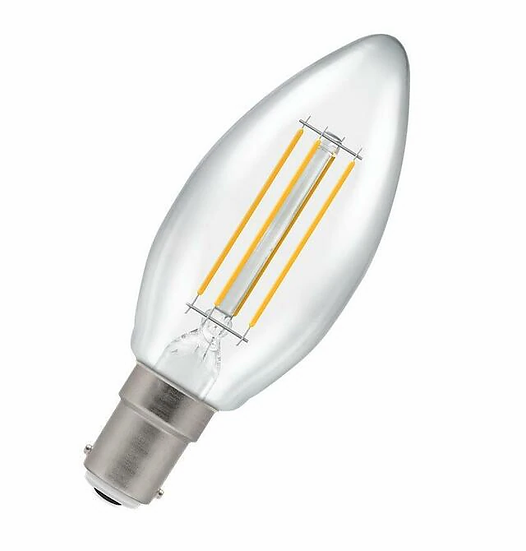 LED Candle Filament Clear • Dimmable • 5W • 2700K • SBC-B15d 7147