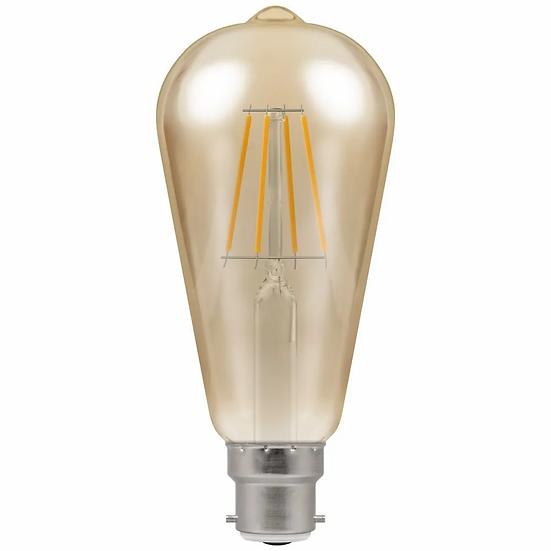 LED ST64 Filament Antique • Dimmable • 5W • 2200K • BC-B22d 4221