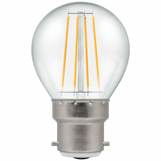 LED Round Filament Clear • Dimmable • 5W • 2700K • BC-B22d 7215