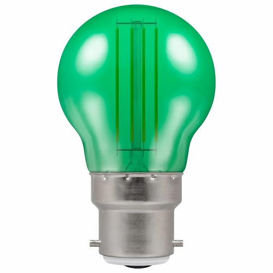 LED Filament Harlequin Round • 4.5W • Green • BC-B22d 13834