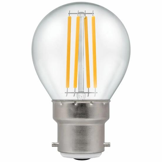 LED Round Filament Clear 6.5W = 60W 2700K BC-B22d 12790