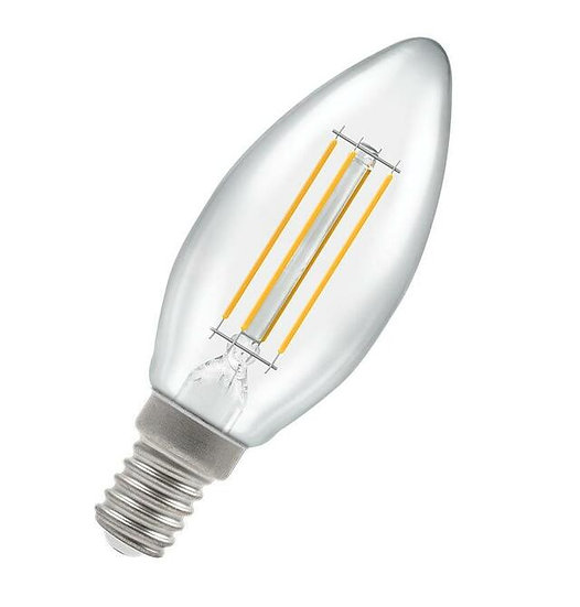 LED Candle Filament Clear • Dimmable • 5W • 2700K • SES-E14 7161