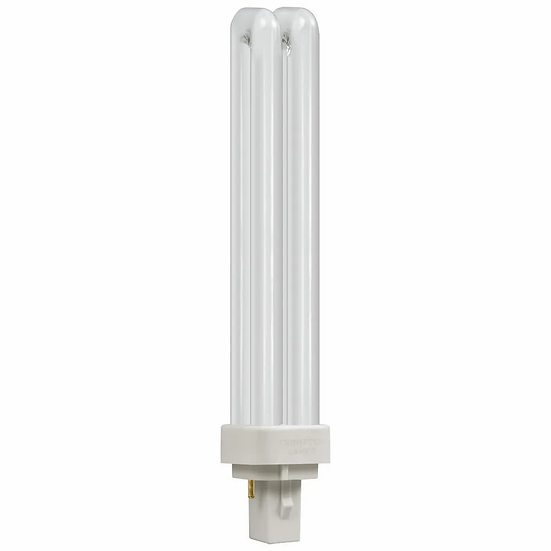 CFL PLC Double Turn D Type • 26W • 3500K • G24d-3 2-Pin