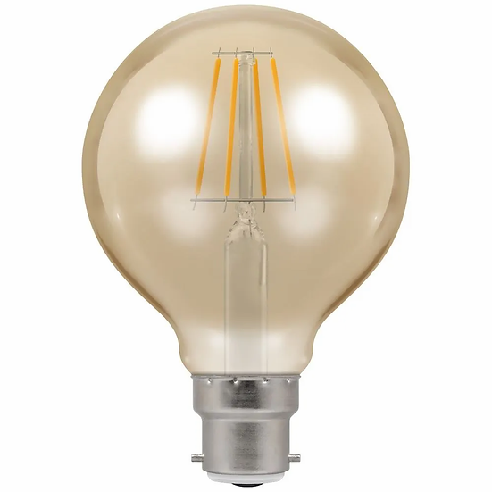 LED Globe G80 Filament Antique • Dimmable • 5W • 2200K • BC-B22d 4269