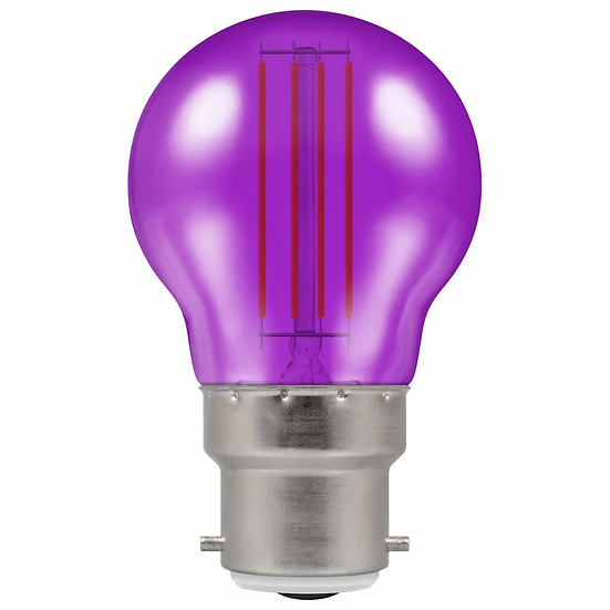 LED Filament Harlequin Round • 4.5W • Purple • BC-B22d 13896