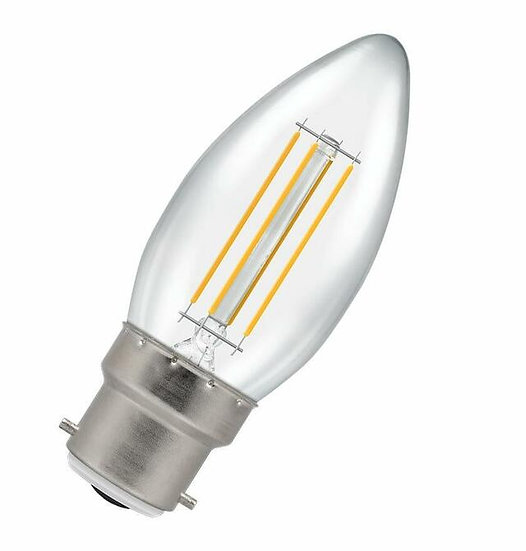 LED Candle Filament Clear • Dimmable • 5W • 2700K • BC-B22d 7130