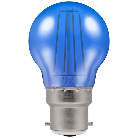 LED Filament Harlequin Round • 4W • Blue • BC-B22d 9011 / 13810