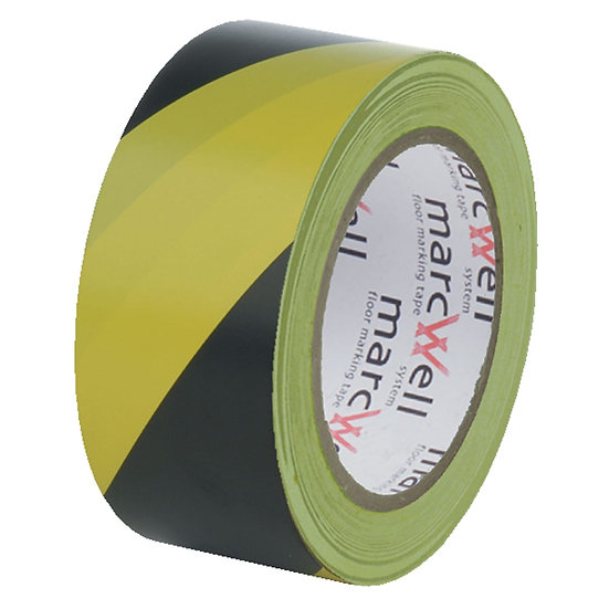 Pacplan® HAZARD WARNING Floor Marking Tape 50mm x 33m –BLACK AND YELLOW