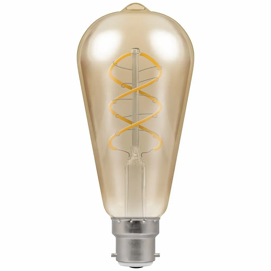 LED ST64 Spiral Filament Antique • Dimmable • 6W • 2200K • BC-B22d 6591