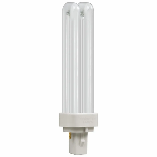 CFL PLC Double Turn D Type • 13W • 4000K • G24d-1 2-Pin