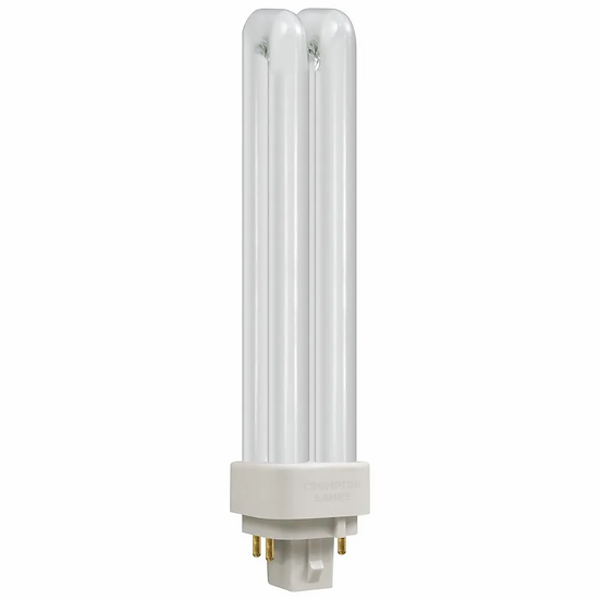 CFL PLC-E Double Turn DE Type • Dimmable • 18W • 3500K • G24q-2 4-Pin