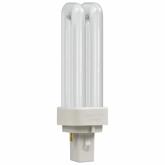 CFL PLC Double Turn D Type • 10W • 3000K • G24d-1 2-Pin