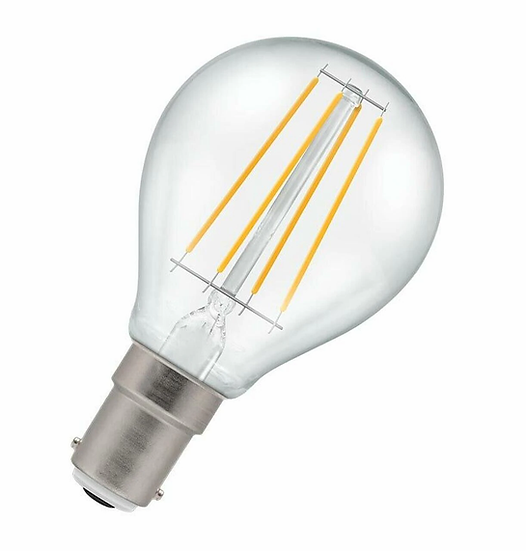 LED Round Filament Clear • Dimmable • 5W • 2700K • SBC-B15d 7222