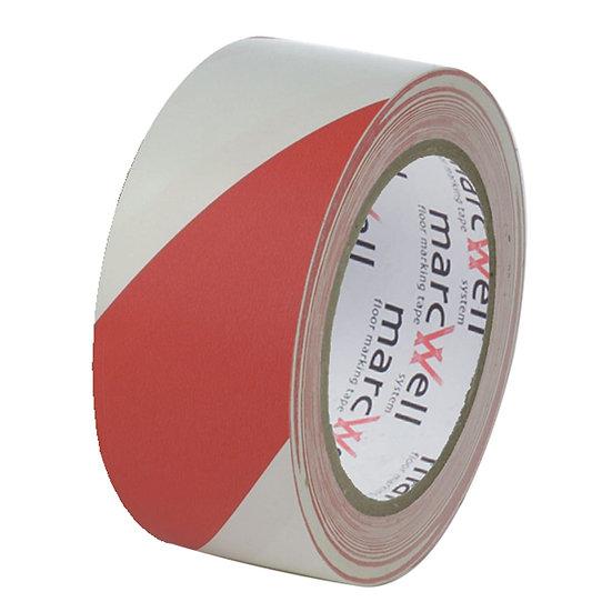Pacplan® HAZARD WARNING Floor Marking Tape 50mm x 33m – RED AND WHITE