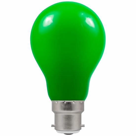 LED GLS Coloured • 1.5W • Green • BC-B22d 4122