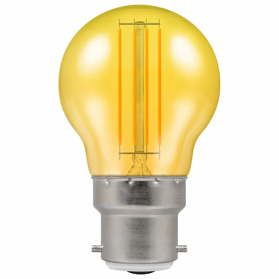 LED Filament Harlequin Round • 4.5W • Yellow • BC-B22d 13957