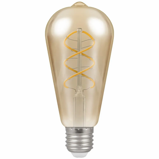 LED ST64 Spiral Filament Antique • Dimmable • 6W • 2200K • ES-E27 6607