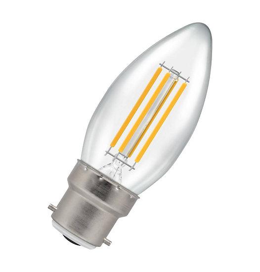 LED Candle Filament Clear 6.5W = 60w 2700K BC-B22d 12769