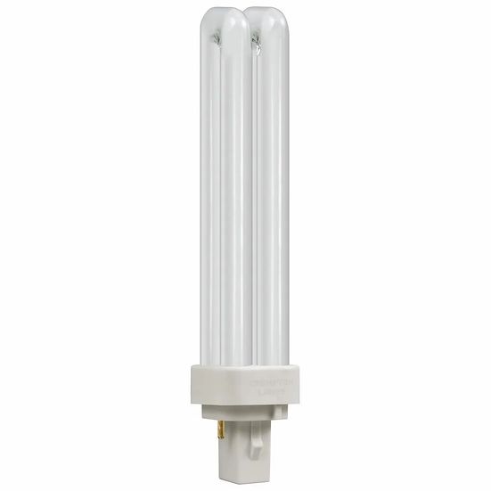 CFL PLC Double Turn D Type • 18W • 3000K • G24d-2 2-Pin