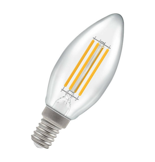 LED Candle Filament Clear 6.5W = 60W 2700K SES-E14 12783