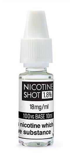 2 X S13018 NICOTINE SHOT 1.8% IN 10ML VG SOLUTION