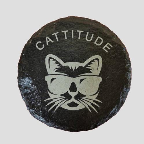 Cattitude Slate Coaster