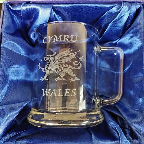 Welsh Pint Tankard With Presentation Box.