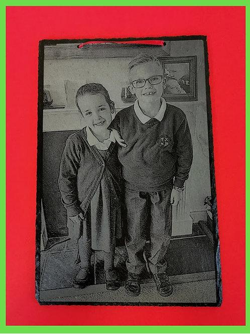 Back To School Photograph On Slate