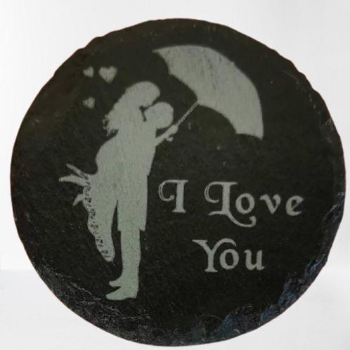 I love you valentines coaster