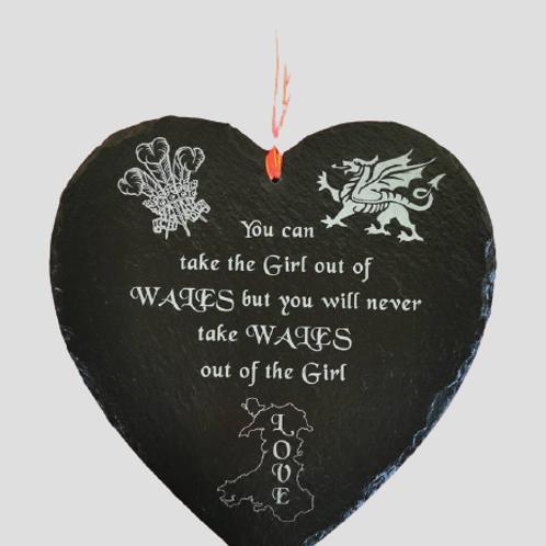 Welsh Slate Heart