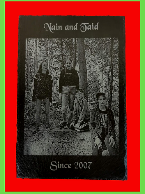 """Welsh Slate 10"""" x 8"""" Your Photo Engraved"""