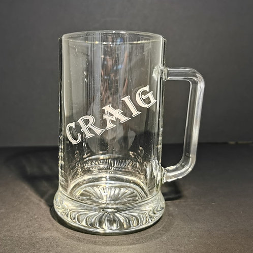 Pint tankard engraved with your name