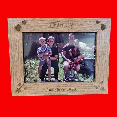 "Wooden photo frame ""Family"""