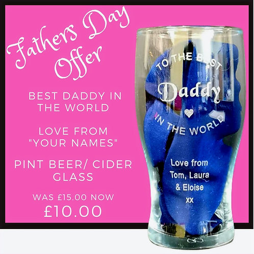 Fathers Day Pint Glass