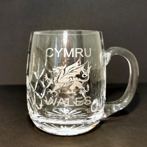 Lead Crystal Barrel Glass