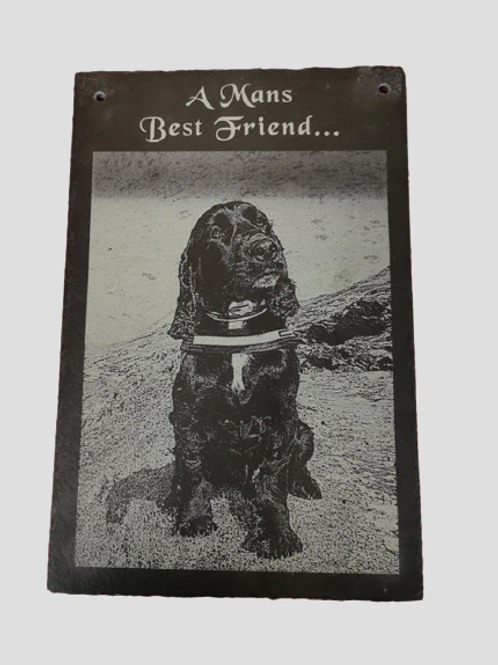Slate Engraved With Your Photo