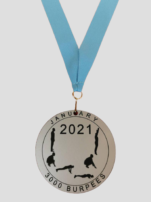 Bespoke VIRTUAL medals includes ribbon