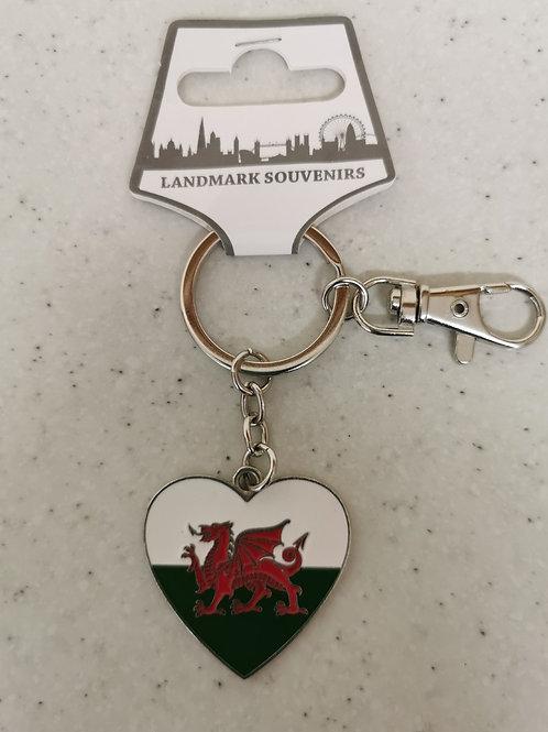Heart Welsh Keyring