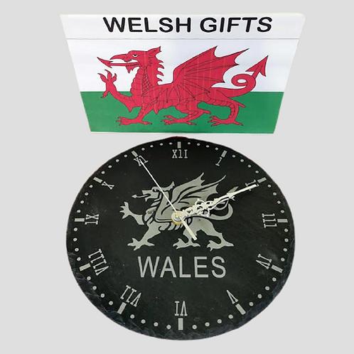 Welsh Dragon Clock