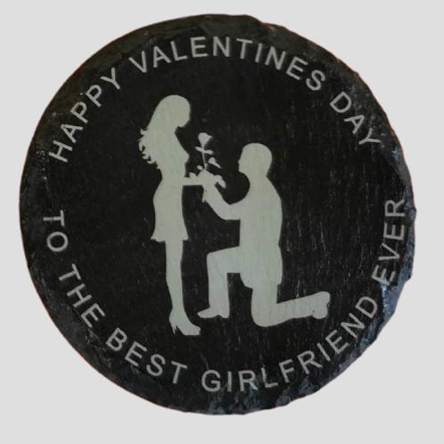 Best girlfriend ever valentines coaster