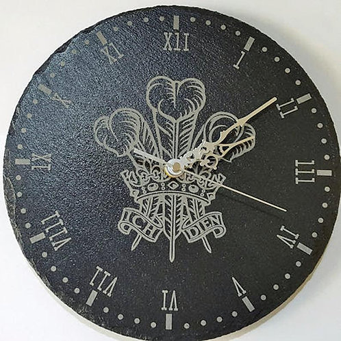 Welsh Feathers Clock