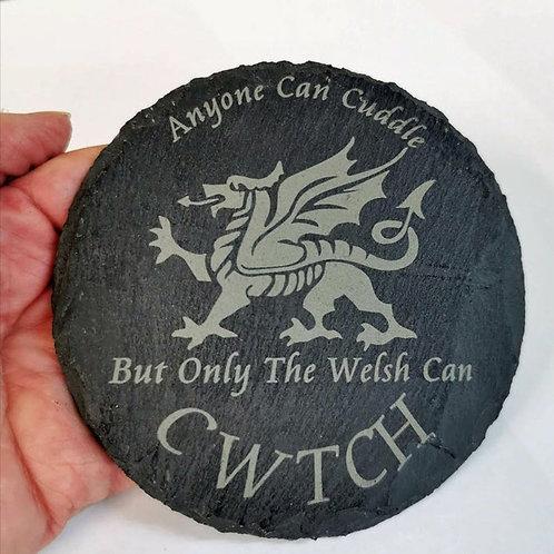 Cwtch Slate Coaster