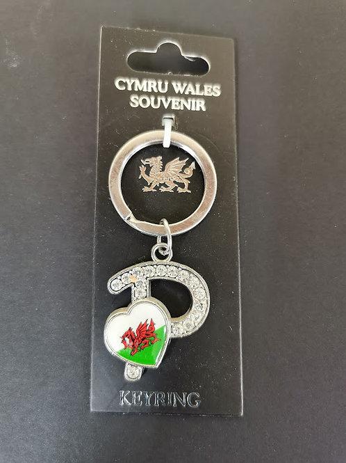 Welsh Alphabet  Keyring Letter P