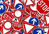 panneaux routiers reaction permis test p