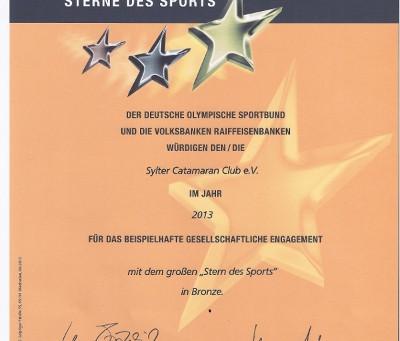 Sterne des Sports 2013 (1. Platz auf Sylt, 4. Platz in SH)